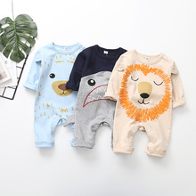 Brand New Cartoon Baby Boys Rompers Kids Long Sleeve Clothing Girls Cotton Jumpsuit Newborn 0-24M Clothes
