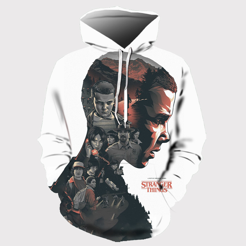 Dropship 2019 Hot Men Hoodies Stranger Things 3 Sweatshirt Stranger Stranger Things Print 3D Hoodies Tops Casual Anime Hoodie