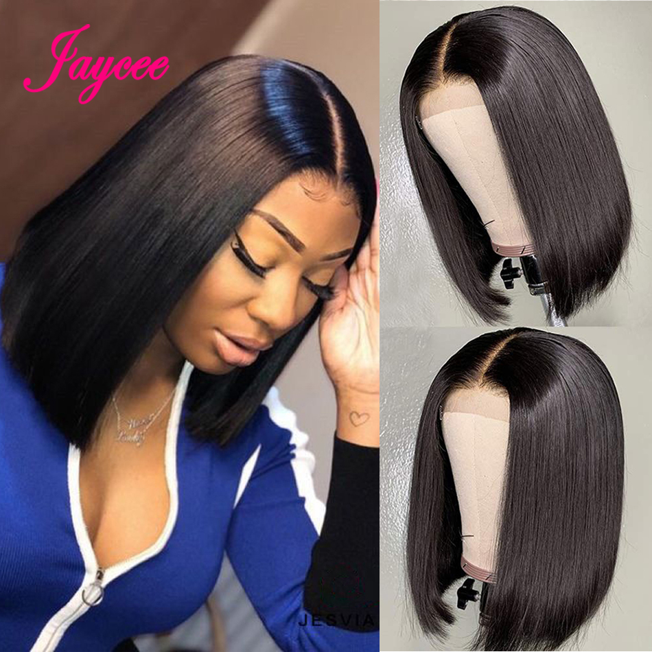 Brazilian Straight Closure Wig Short Human Hair Wigs Bob Lace Closure Wigs For Women Natural Hairline Lace Front Human Hair Wigs