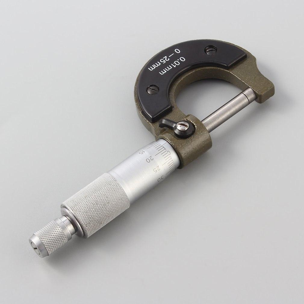 Новые Самые лучшие 0-25 мм 0,01 мм Датчик вне Метрическая микрометрический инструмент с металлической для Mechanist суппорт инструменты
