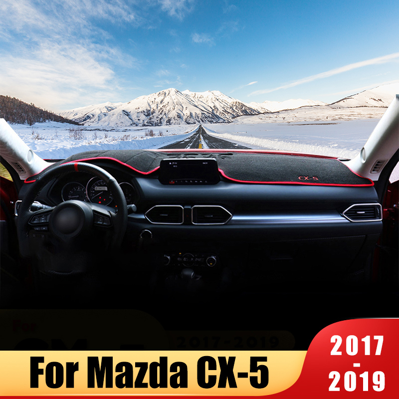 Car dashboard cover Mat Avoid light pad Instrument panel Carpets For <font><b>MAZDA</b></font> <font><b>CX</b></font>-<font><b>5</b></font> CX5 <font><b>CX</b></font> <font><b>5</b></font> 2012 20132014 <font><b>2015</b></font> <font><b>2016</b></font> <font><b>2017</b></font> 2018 2019 image