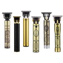 Maszynka elektryczna do włosów dla mężczyzn elektryczna maszynka do strzyżenia włosów USB do ładowania dla fryzjerów trymer do brody do stylizacji fryzury dla mężczyzn tanie tanio CN (pochodzenie) WITH COMB Maszynka do włosów stainless steel aluminium alloy ceramics RC409HA USB rechargeable DC5V