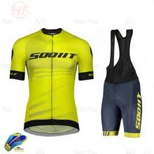 Scottful camisa de ciclismo dos homens manga curta respirável camisa terno da equipe de ciclismo uniforme 2020 verão mountain bike ciclismo jérsei
