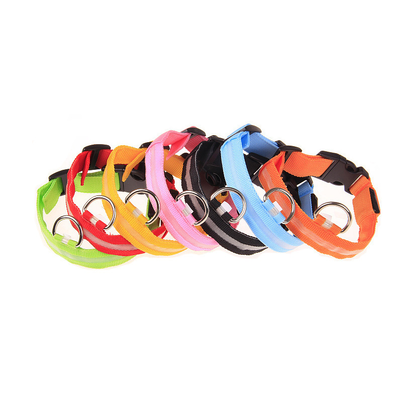LED Dog Luminous Collar Night Light Pet Sub With Wire Screen Neck Ring With Insulation Sheet