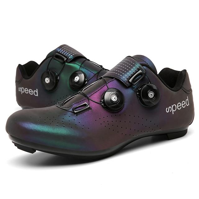 Profissional atlético sapatos de bicicleta mtb sapatos de ciclismo homem auto-bloqueio sapatos de bicicleta de estrada 2