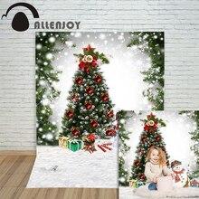 Allenjoy christmas photography backdrop Snow xmas Tree Snowman Winter childrens camera photocall Customize festive
