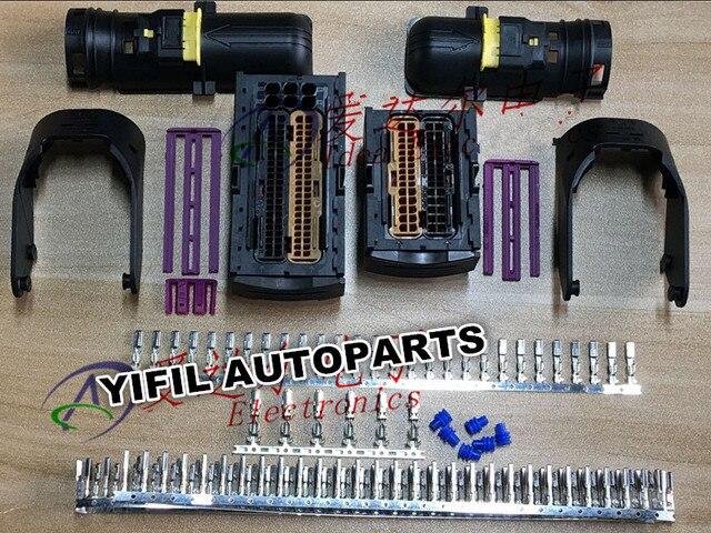 1 conjunto 60 pinos/maneira 94 pinos/maneira te/amp/tyco ecu chicote de fios conector plug com selo terminal 284743 1 284742 1