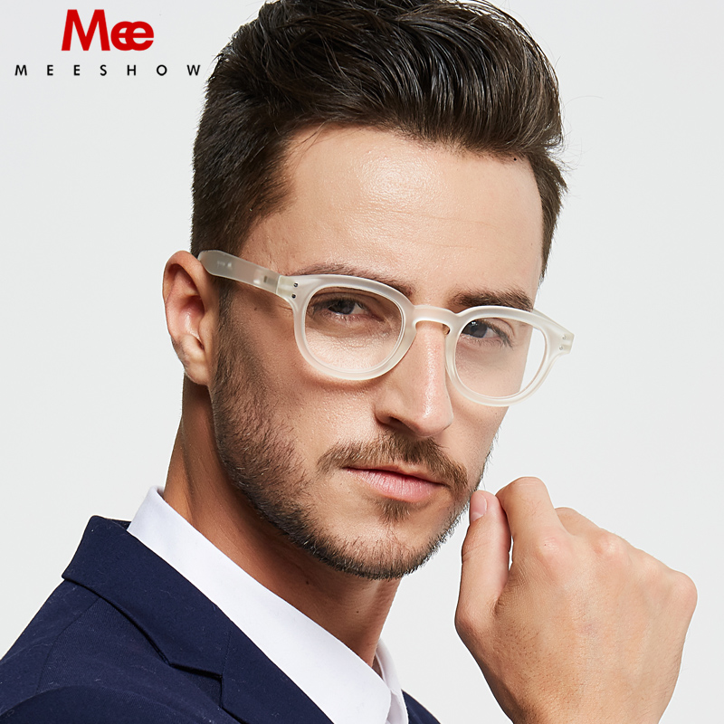 Meeshow Retro Reading Glasses Men 's Glasses With Diopter Round Europe Style Quality Women Eye Glasses  White Presbyopia Glasses
