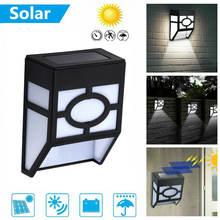 Настенный светодиодный светильник на солнечной батарее уличная