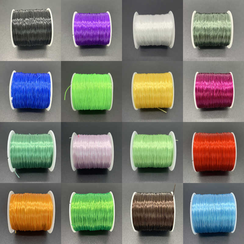 60M/Roll 0.7mm Elastic Thread Round Crystal Line Nylon Rubber Stretchy Cord Elastic Rope For Jewelry Making Beading Bracelet