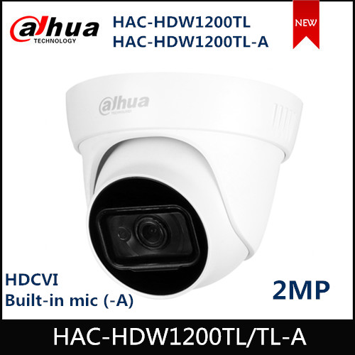 Dahua 2MP HDCVI IR Eyeball Camera HAC-HDW1200TL HAC-HDW1200TL-A Built-in Mic (-A) IR 30m IP67 Waterproof HDCVI Camera