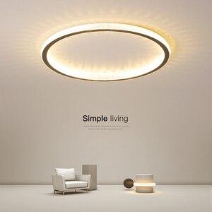 New Black/White/Gold Minimalist led chandelier For living room lights Bedroom ledlamp Modern chandelier lighting light fixtures(China)