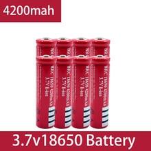 100% New Original 18650 3.7V 4200 mAh 18650 Lithium Rechargeable Battery For GTL EvreFire Flashlight batteries