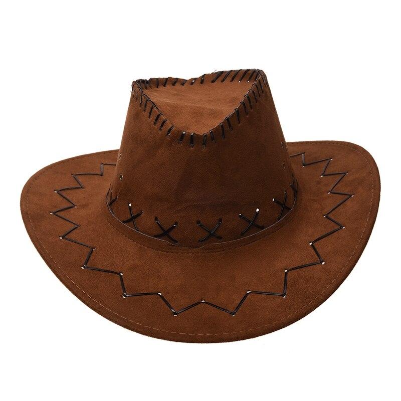 BROWN COWBOY HAT AND BANDANA WILD WEST FANCY DRESS COSTUME ACCESSORY SET