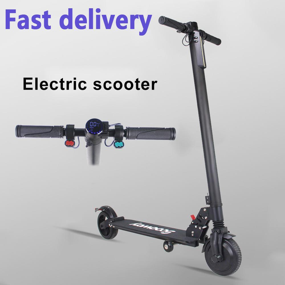 EU Stock <font><b>250W</b></font> For SCOOWAY <font><b>Electric</b></font> <font><b>Scooter</b></font> Adult Folding <font><b>Scooter</b></font> 3 Speed Modes Mini Lithium Battery Bicycle Small <font><b>Scooter</b></font> 25KM image