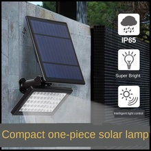 Solar Lawn Lamp Household Courtyard Small Wall Lamp Outdoor Water-Proof 50led ground plug foco led exterior solar