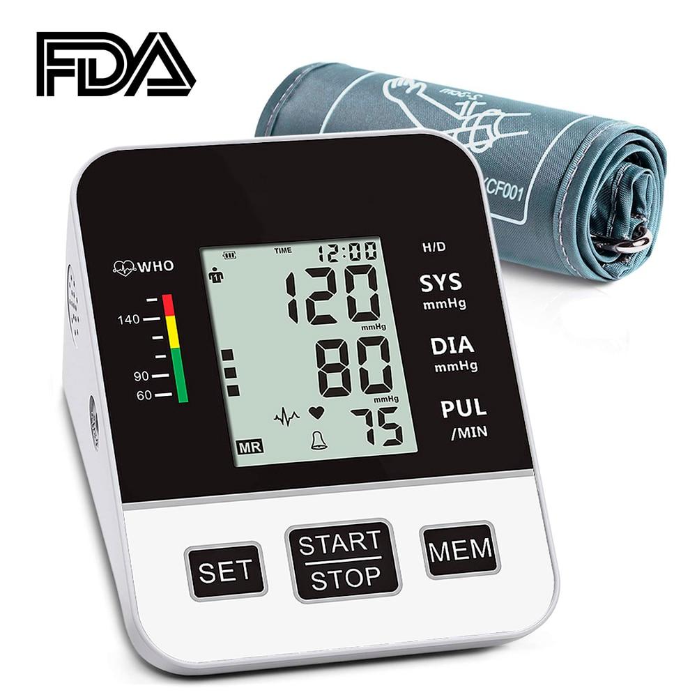 Home Blood Pressure Monitor Upper Arm Automatic Digital LCD Large  Cuff Blood Pressure Monitors Medical BP Heart Rate Pulse MeterBlood  Pressure