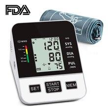 홈 혈압 모니터 상완 자동 디지털 LCD 대형 커프 혈압 모니터 의료 BP 심박수 펄스 측정기