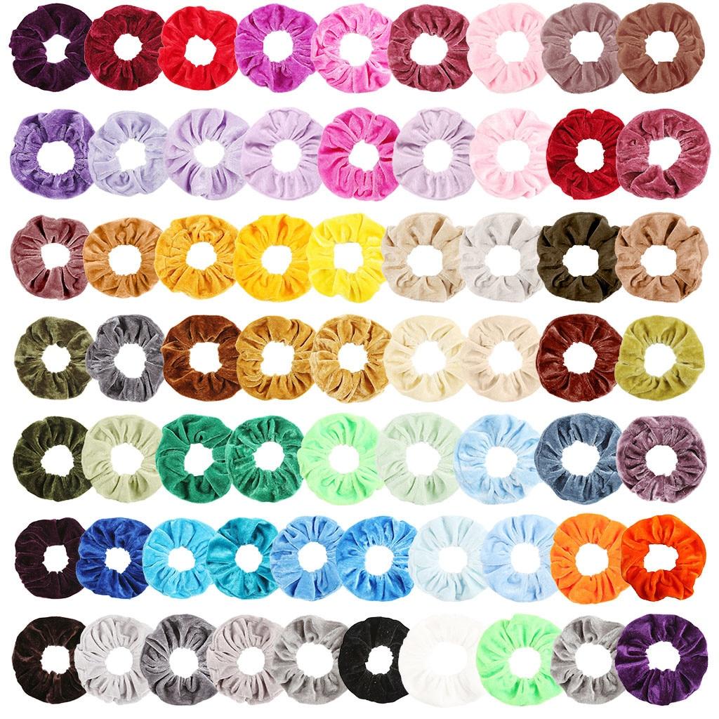 65 Pcs Hair Accessories Velvet Elastic Hair Bands For Women Or Girls Hair Clips For Scrunchie Pack Kids Hair Accessories N5