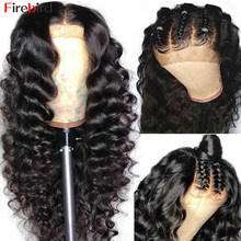 Firebird 30 Inch Loose Deep Wave Wig 4x4 Loose Deep Wave Lace Closure Wig Human Hair For Women Pre Plucked Bleached Knots Wig