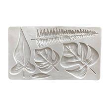 Тропическая тема украшения торта инструмент ладони силиконовая форма в виде листьев глины помадка Плесень DIY Конфеты Сахар Печенье шоколадная форма выпечки