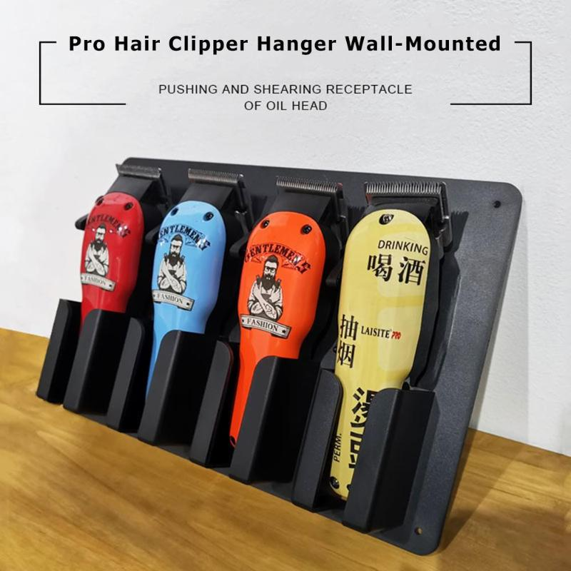 Plastic Hair Clipper Hanger Excellent High Temperature Resistant PP Wall-Mounted Barber Tools Storage Rack Stand Holder