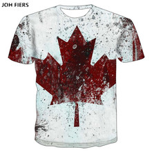 Brand Canada Flag Printing 3D Red maple Tshirt Men Fashion Short Sleeve Summer T-shirts Casual Canada Flag Funny Tops Tees Homme все цены