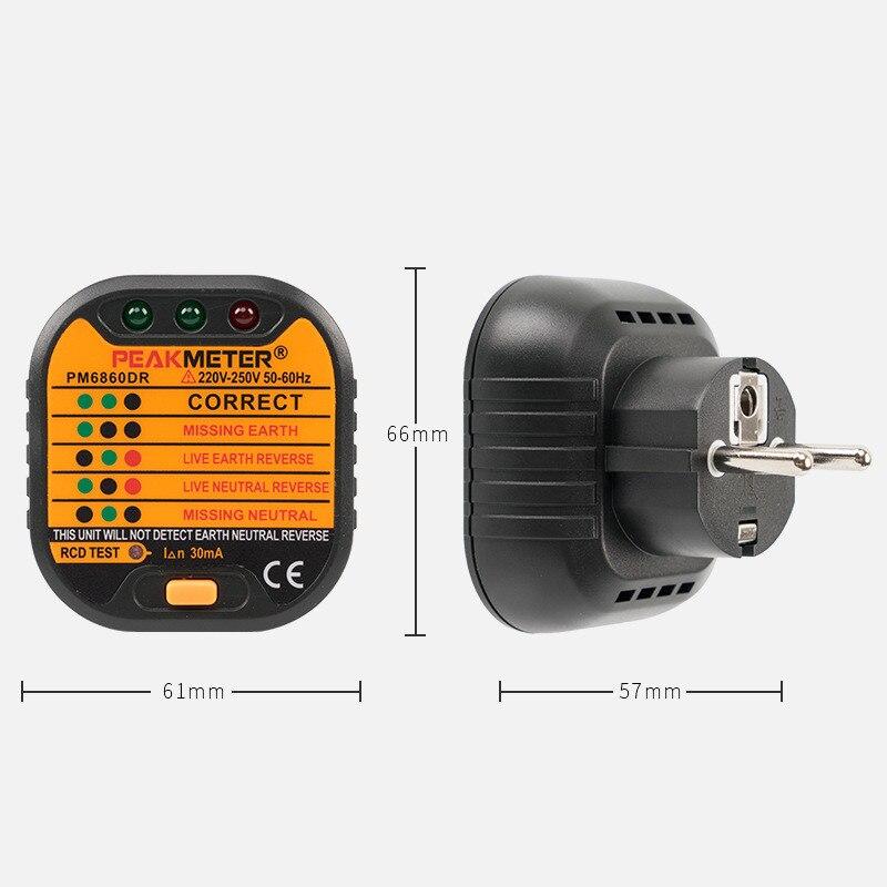 Standard Socket Safety Tester Line Inspection Instrument title=