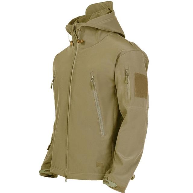 Military Shark Skin Soft Shell Jackets Men Tactical Windproof Waterproof jacket men Army Combat Jackets Mens Hooded Bomber Coats 3