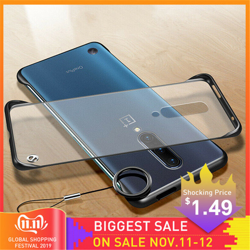 Frameless Case For OnePlus 7 Pro <font><b>6</b></font> 6t Clear Case Luxury Ring Design Scrub Hard PC For <font><b>One</b></font> <font><b>Plus</b></font> 7Pro 1+ 7 <font><b>6</b></font> t <font><b>Phone</b></font> Case <font><b>Cover</b></font> image
