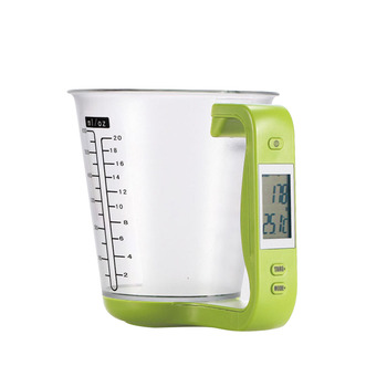 Digital Large Capacity Electronic Measuring Cup Kitchen Scales Digital Beaker Libra Scale with LCD Display Temperature Cups image