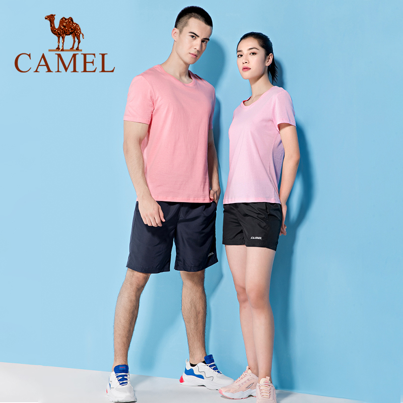 CAMEL New Fashion Casual Unisex T-shirt Hiking Outdoor Sports T-shirt Men T-shirt Women T-shirts Cotton Clothes
