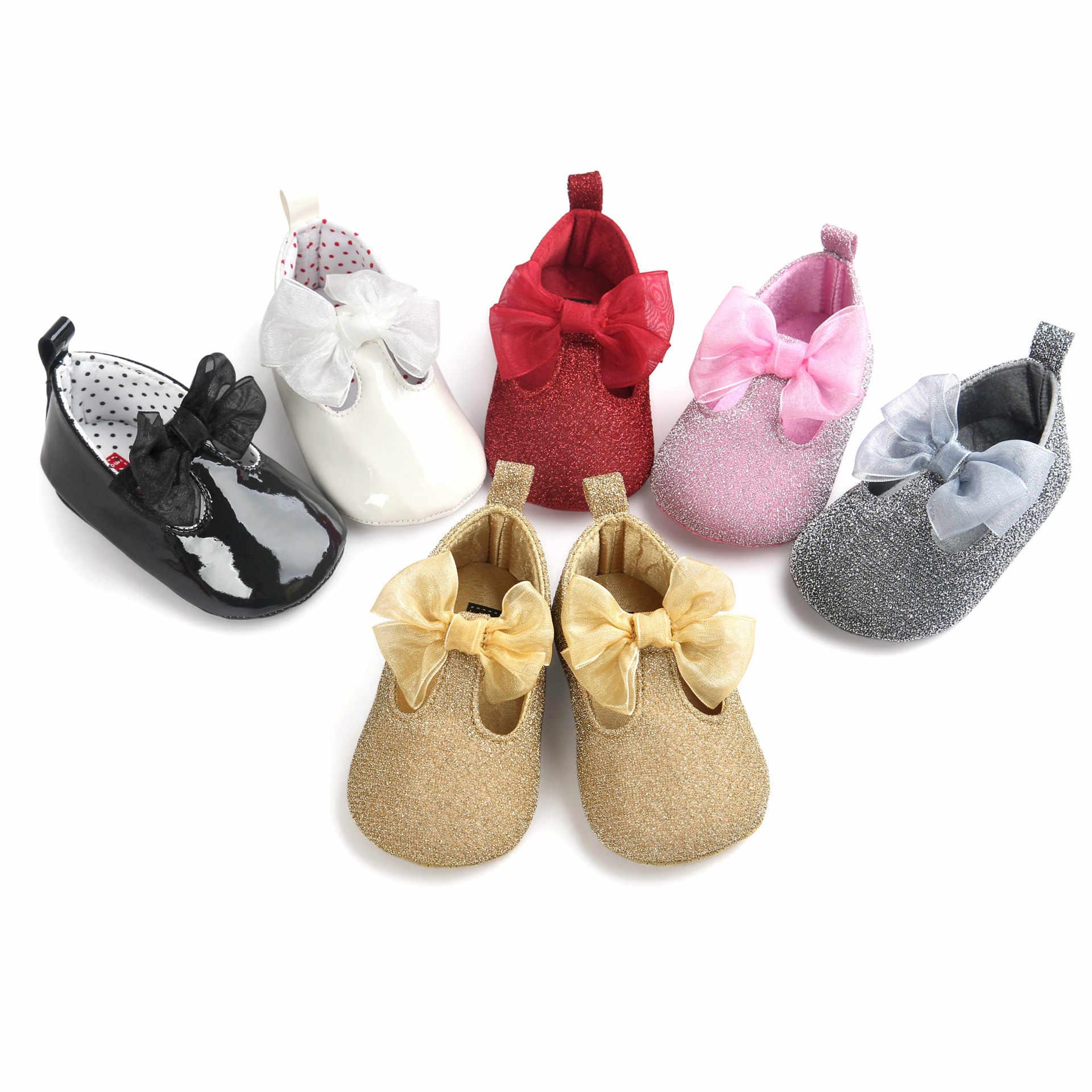 B & G zapatos de baile de princesa antideslizantes niño niña zapatos para correr suave arco niños zapatos transpirables