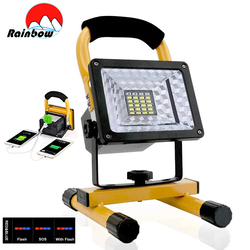 100W 24LED Portable Spotlight Super Bright 20000LM Work Light Outdoor Searchlight Rechargable Floodlight For Camp Sport Fishing