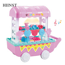 2019 Kids Toys Ice Cream Car Set Girls Children Candy Shop Car Set Creative Funny Toys Children Cars Gift Pretend Sell Food Toys(China)