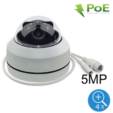 5MP PTZ Dome POE IP Camera Outdoor Waterproof Home Security IP Camera POE ONVIF 1080P 4X Zoom P2P IR Night Vision H.265 цена 2017