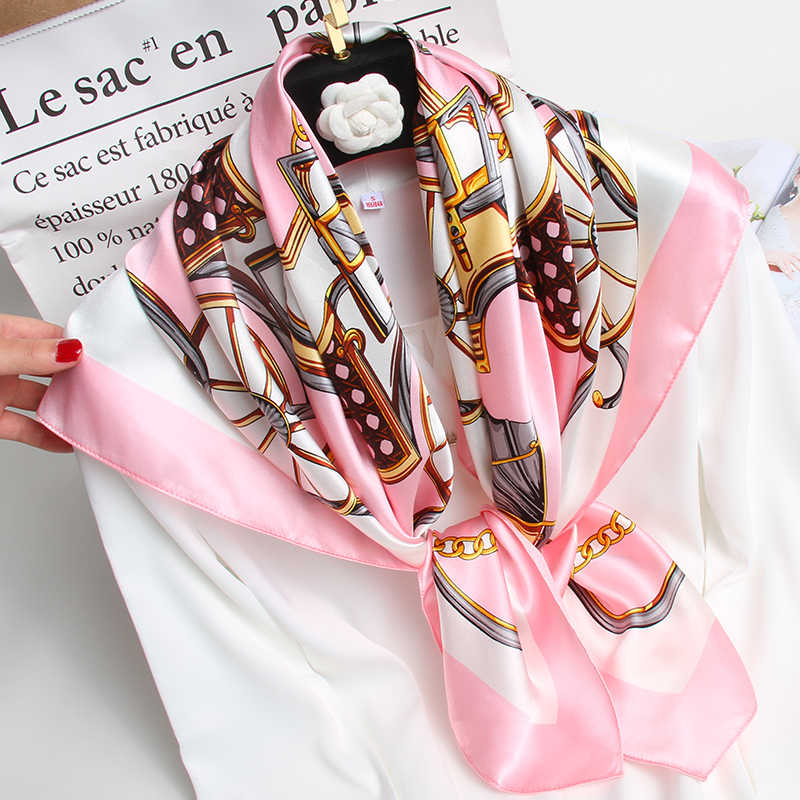 Le Donne 100% Quadrato Sciarpa di Seta Pura di Marca 2020 Hangzhou Naturale di Seta Bandana Wrap per La Signora Stampato Fazzoletto da Collo Sciarpe Quadrate di Seta