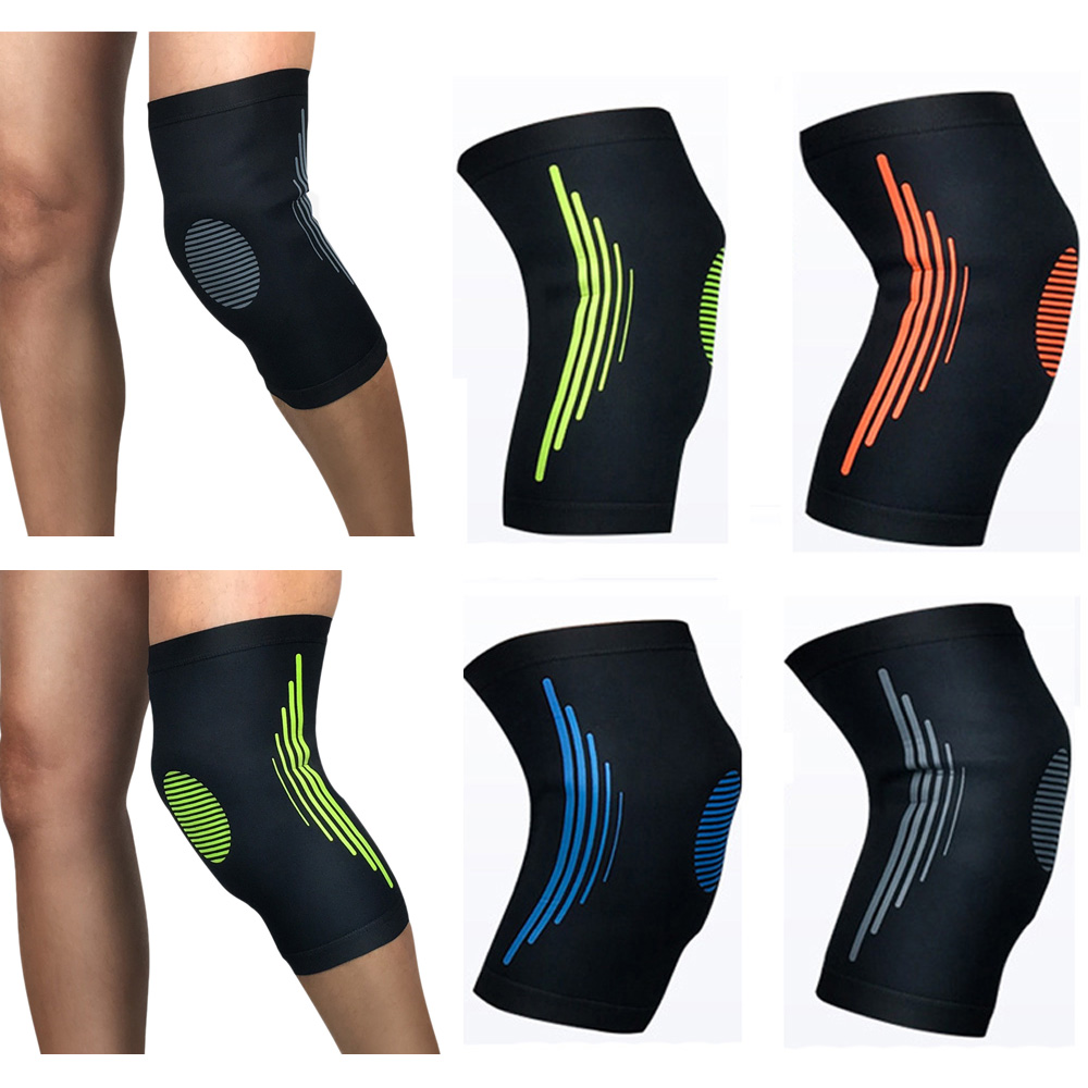 Protective Gear Knee Pad Elastic Breathable Sports Basketball Running 1 Piece