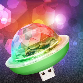 4W Mini USB Sound Party Lights Disco Light RGB Magic Crystal Ball Stage Light Effect for Christmas KTV Wedding Music Dj Light stage lamp dj disco crystal rotating light magic ball for ktv bar home 15 color voice activated party effect sound music