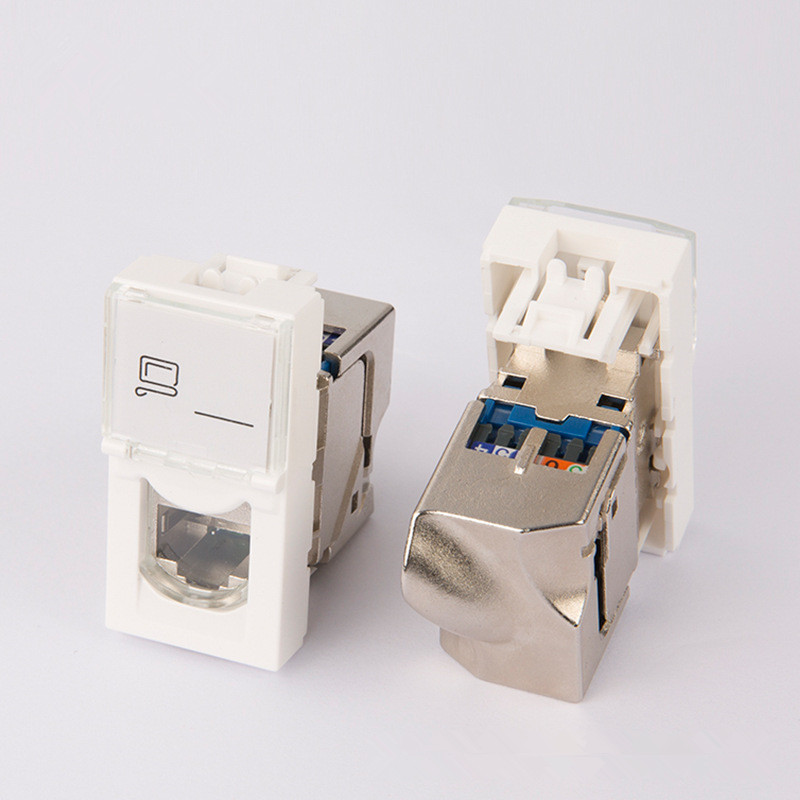76563 Legrand type For Cat6 Shield Keystone Jack Modular RJ45 Connector France jack(China)