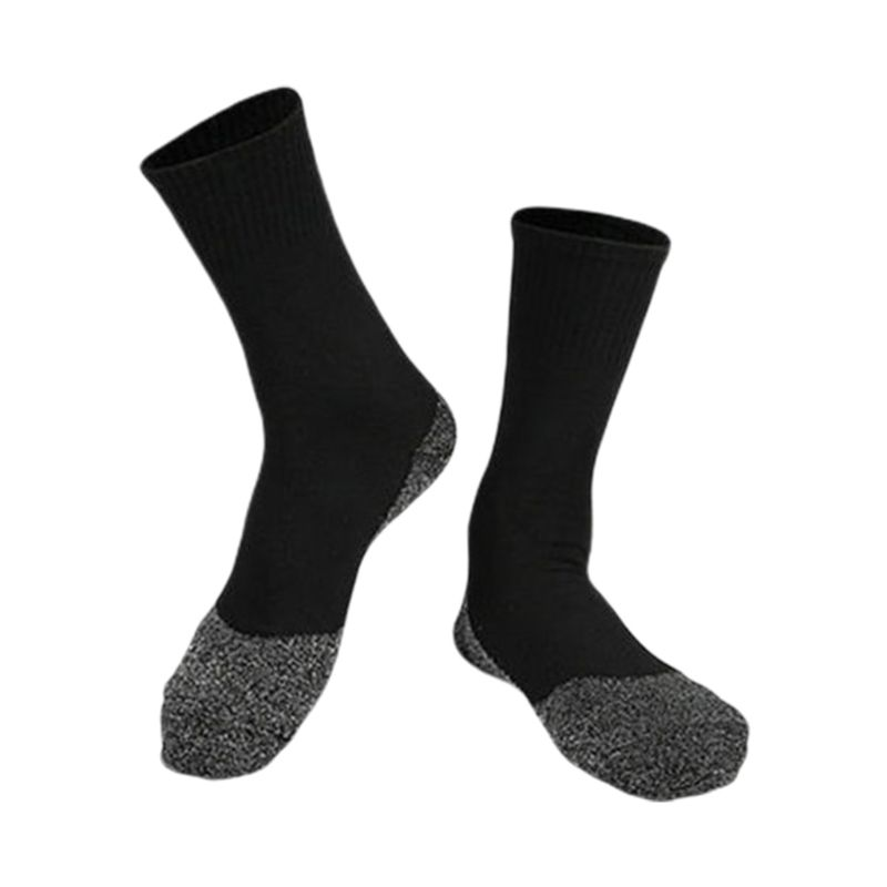Mens Winter Thermal Outdoor Cold Weather Mid Calf Crew Socks Alumanized Thread