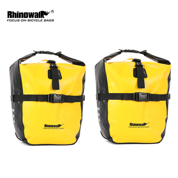 Rhinowalk 2 Pieces 20L Waterproof Bicycle Pannier Bag Bike Accessories Portable Bike Bag Trunk Pack Cycling Travel Cycling Bag