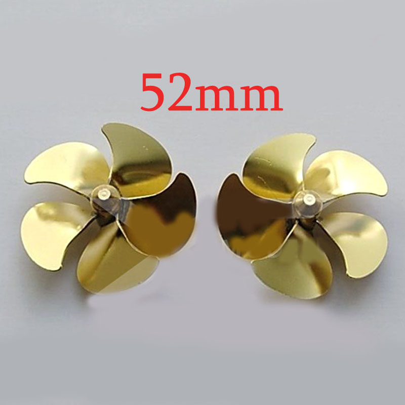1PC Marine Use Brass Propeller Full Immersed 5 Blades Paddle M4 Shaft Props Positive/Reverse Propellers for RC Boat Model Parts