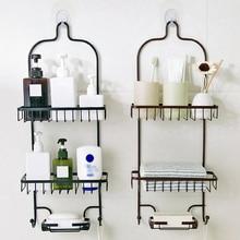 Iron Three-layer Storage Basket Wall Hanging Punch-free Muli-function Door Hanging Home Organizer Rack Kitchen Sundries