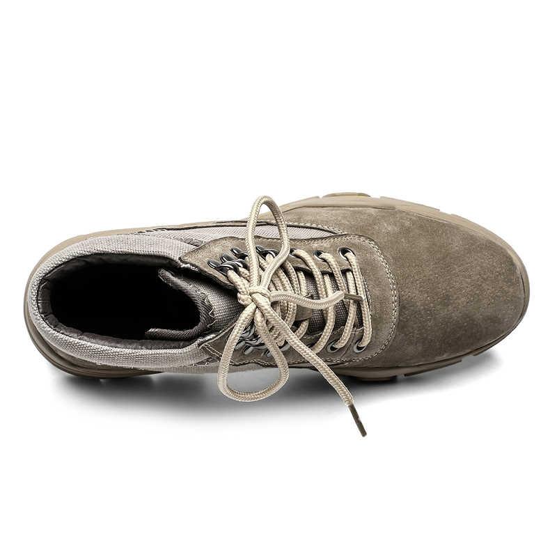 2019 Mode Mannen Wandelen Schoenen Anti-Slip Bergbeklimmen Laarzen Outdoor Ademend Mannen Trekking Schoenen Nieuwe Waterdichte Sport Laarzen