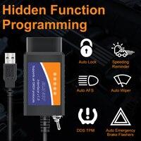 ELM 327 V1.5 USB OBD2 ELM327 interruptor para Ford para Mazda ELM327 Forscan ELMconfig lector de códigos de coche PIC18F25K80 HS puede MS puede