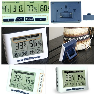 Image 5 - Backlight Calibrable Thermometer Hygrometer Digital Home Office Hospital Factory Greenhouse Living Room Temperature Humidity
