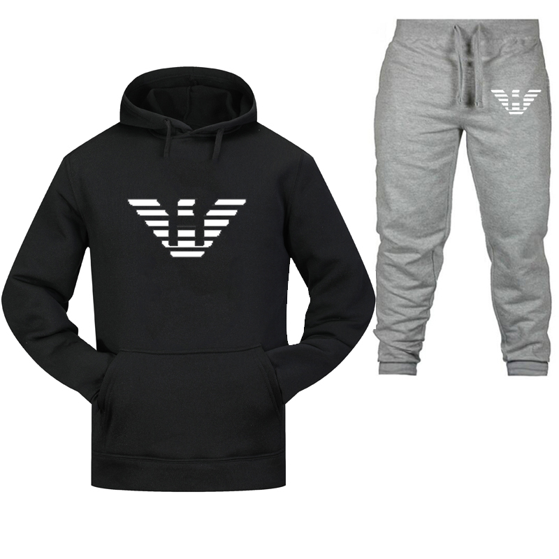2020 Men And Women Sports Suit Thickened Hoodie New Fashion Sweater Sports Suit Printed Warm Pants Sports Jogging Suit