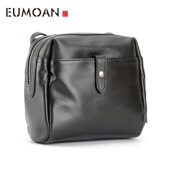 EUMOAN Head cowhide female Xiao Fang bag simple casual bean curd bag crossbody bag side back shoulder bag