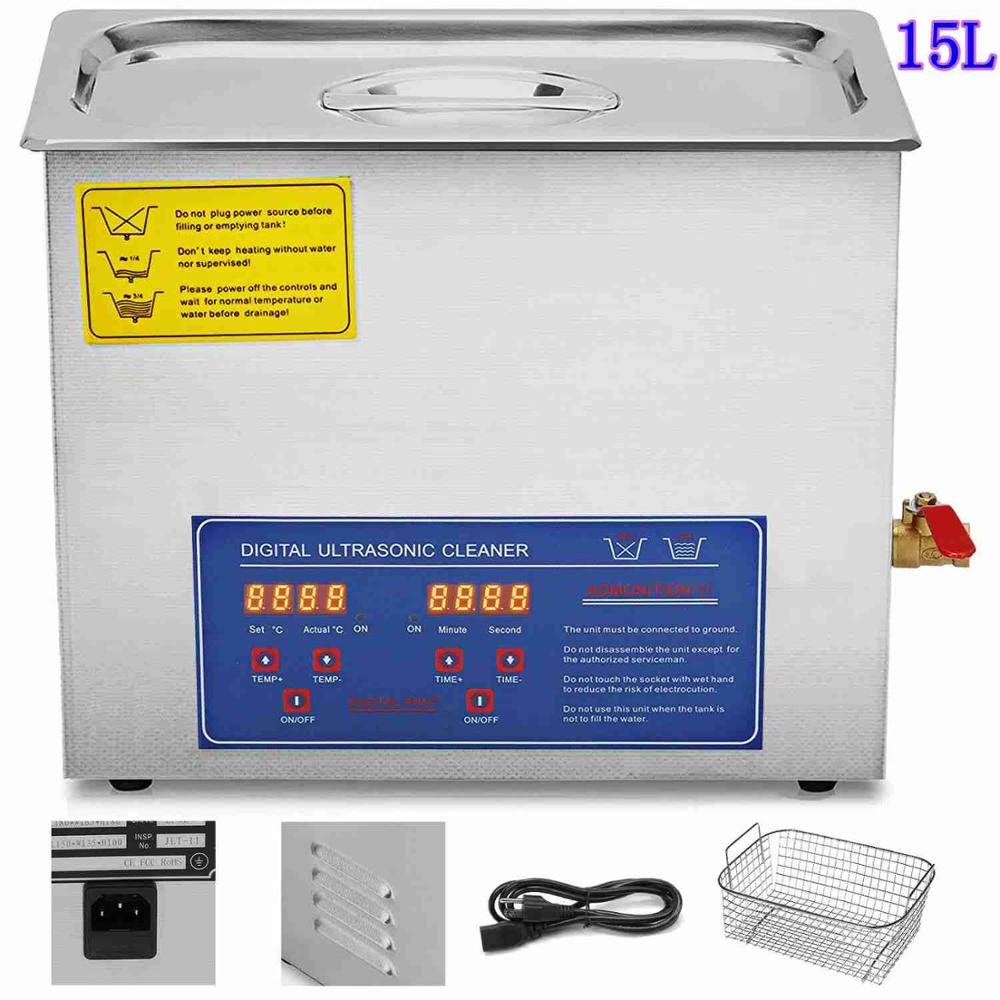 15 L Ultrasonic Cleaner Jewellery Brushed Cleaning <font><b>Tank</b></font> <font><b>15L</b></font> Cleaning Dishware image